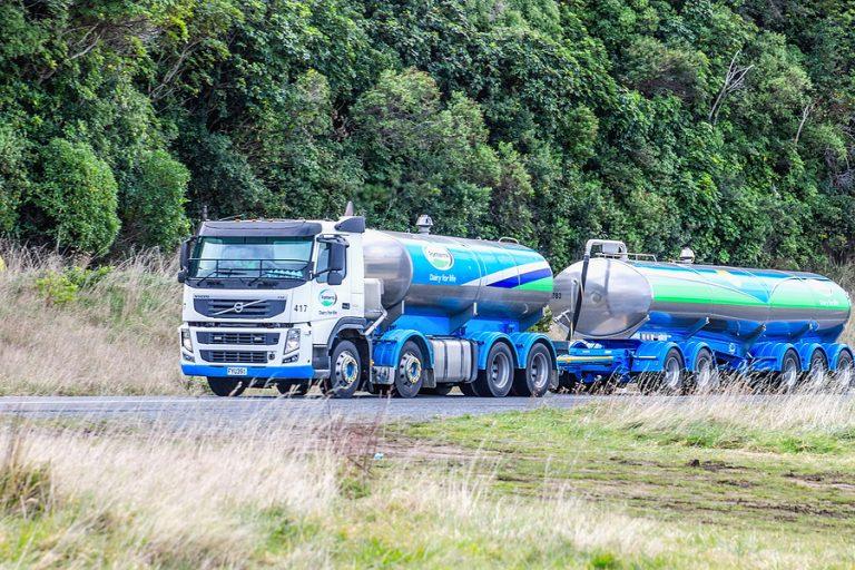 A milk road tanker